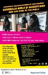 Guerrilla Girls at Augustana