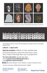 Poster for the Material Conversations Exhibition by Augustana College, Rock Island Illinois