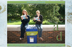 Rachel Ostberg and Annie Tunnicliff read for the Tredway Library.