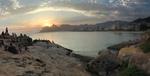 Ipanema Beach at Sunset by Caroline Wator