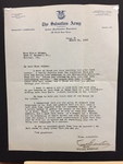 Salvation Army letter